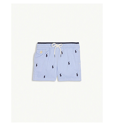 RALPH LAUREN Embroidered logo swimshorts 9-24 months (Bsr+blue