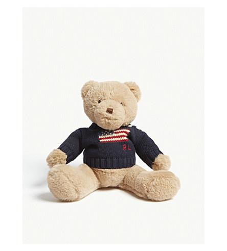 RALPH LAUREN Flag logo teddy bear 19cm (Hunter+navy