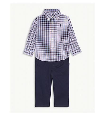 RALPH LAUREN Shirt and chinos cotton set (Blue/red multi