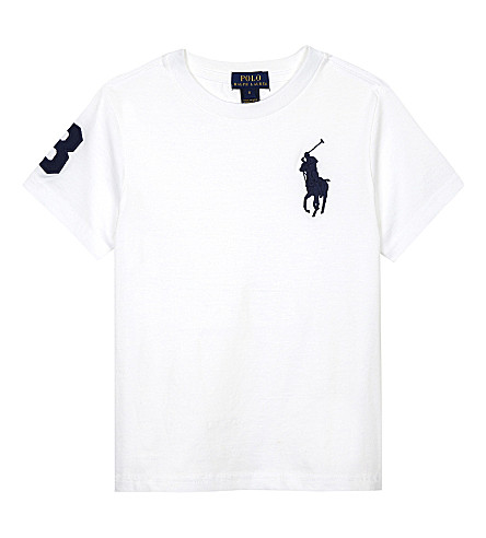 RALPH LAUREN Big Pony cotton T-shirt 2-7 years (White