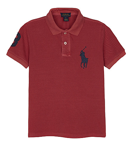 RALPH LAUREN Big Pony cotton polo shirt 2-7 years (Sunrise+red