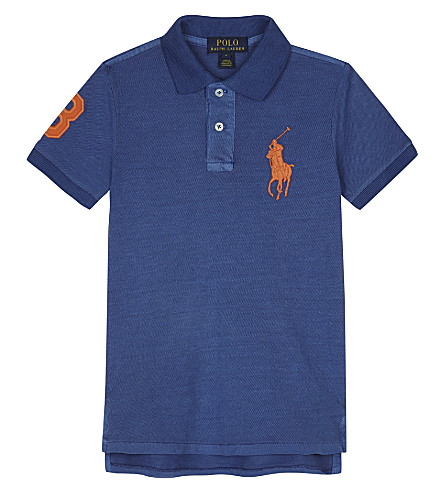 RALPH LAUREN Big Pony cotton polo shirt 2-7 years (Sporting+blue
