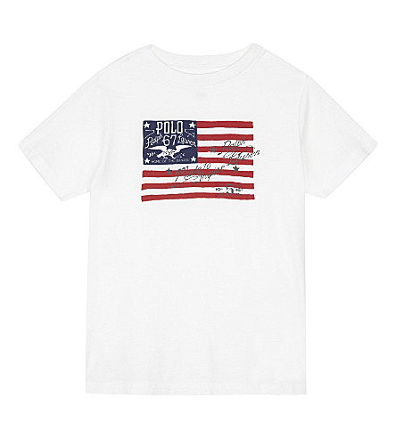 RALPH LAUREN Graphic cotton t-shirt 2-7 years (White