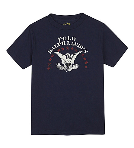 RALPH LAUREN Logo cotton t-shirt 2-7 years (Newport+navy
