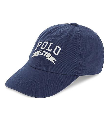 RALPH LAUREN Polo iconic cotton cap 2-4 years (Fresco+blue