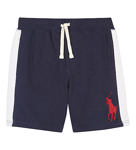 RALPH LAUREN Big Pony cotton shorts 2-7 years (Newport+navy
