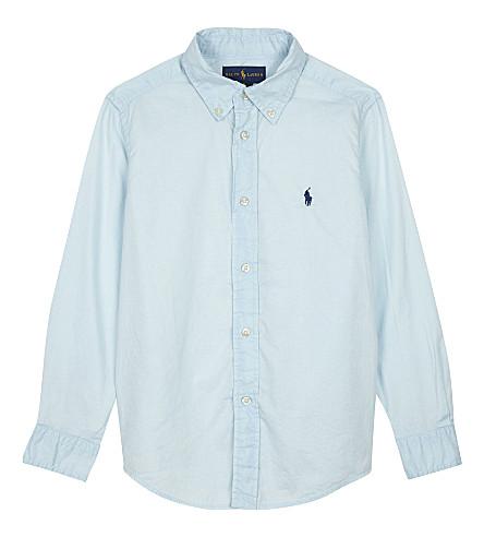 RALPH LAUREN Pony cotton shirt 2-7 years (Coastal+blue