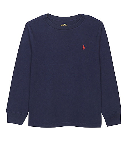 RALPH LAUREN Pony long-sleeve cotton T-shirt 2-7 years (Newport+navy