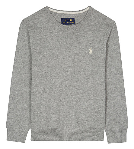 RALPH LAUREN Knitted cotton jumper 2-7 years (Andover+heather