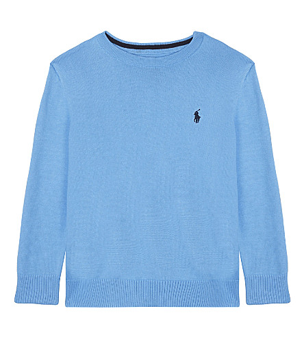 RALPH LAUREN Cotton crew neck jumper 2-4 years (Florida+blue