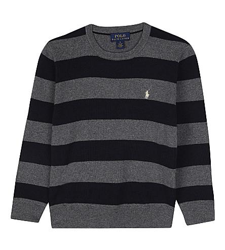 RALPH LAUREN Rl b stripe knit jumper (Andover+heather