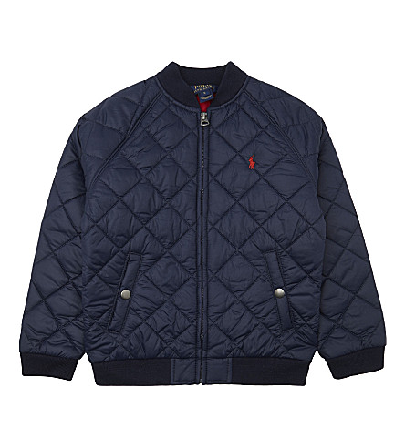 RALPH LAUREN Quilted baseball jacket 2-6 years (French+navy