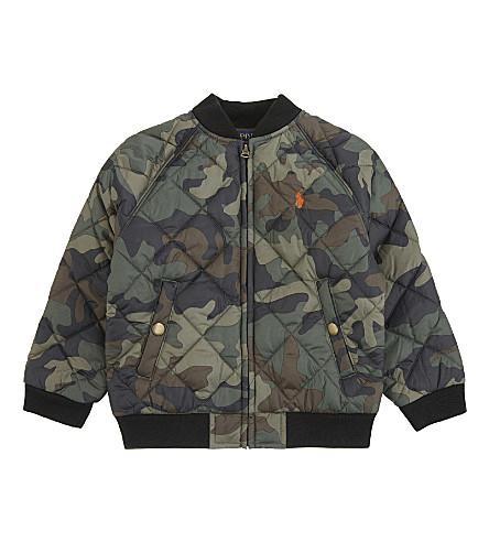 RALPH LAUREN Camouflage print baseball jacket 2-4 years (Green+camo