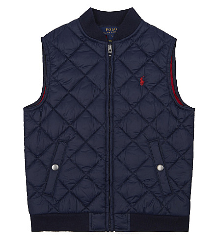 RALPH LAUREN Pony qiulted gilet 2-7 years (French+navy