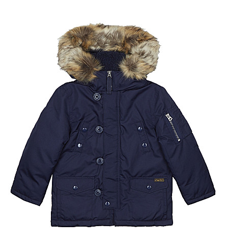 RALPH LAUREN Down-filled Parka coat 2-7 years (French+navy