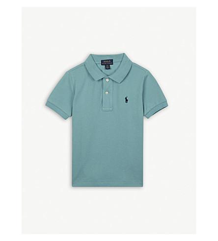 RALPH LAUREN Logo cotton polo shirt 2-4 years (Seafoam