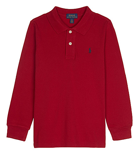 RALPH LAUREN Logo cotton polo shirt 2-7 years (New+red