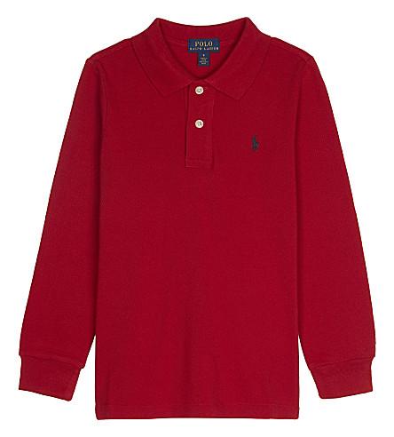 RALPH LAUREN Logo cotton polo shirt 2-7 years (New+red