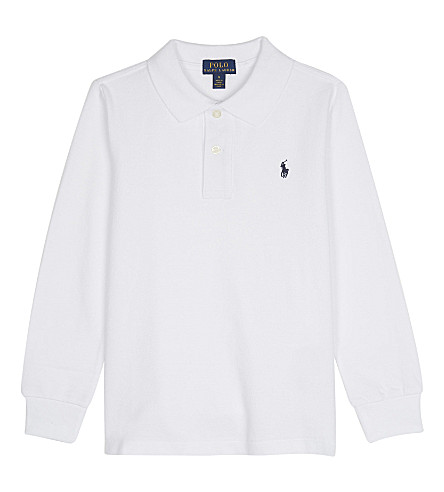 RALPH LAUREN Logo cotton polo shirt 2-6 years (White