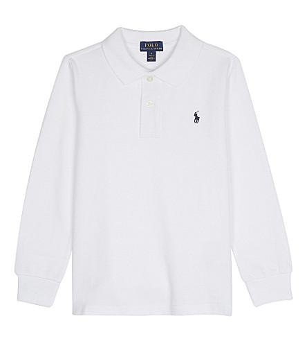 RALPH LAUREN Logo cotton polo shirt 2-6 years (White