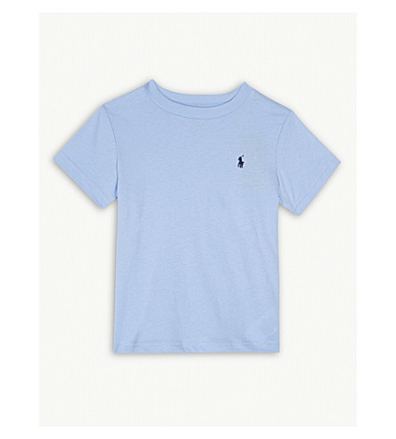 RALPH LAUREN Pony crew-neck cotton t-shirt 2-4 years (Austin+blue