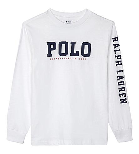 RALPH LAUREN Graphic cotton t-shirt 2-7 years (White