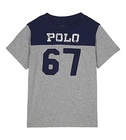 RALPH LAUREN Logo cotton t-shirt 2-7 years (Andover+heather