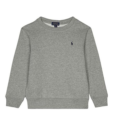 RALPH LAUREN Crew neck sweatshirt 2-7 years (Dark+sport+heat