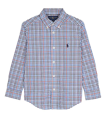 RALPH LAUREN Gingham cotton shirt 2-7 years (Lt+blue+multi