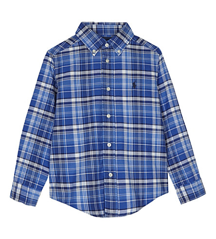 RALPH LAUREN Checked cotton shirt 2-7 years (White+multi