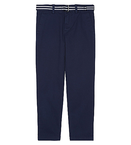 RALPH LAUREN Classic belted chinos 2-7 years (French+navy