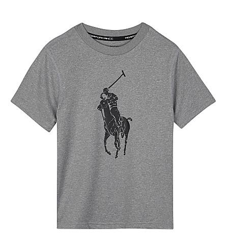 RALPH LAUREN Logo print T-shirt 2-7 years (Andover+heather
