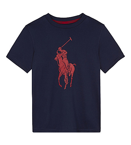 RALPH LAUREN Logo print T-shirt 2-7 years (French+navy