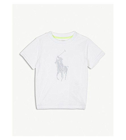 RALPH LAUREN Performance reflective pony T-shirt 2-4 years (Pure+white