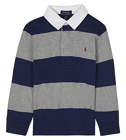 RALPH LAUREN Striped rugby polo shirt 6-14 years (Freshwater+mult