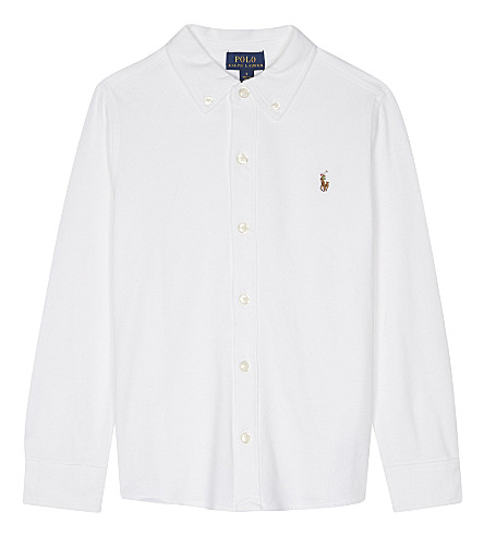 RALPH LAUREN Logo cotton polo shirt 2-7 years (White