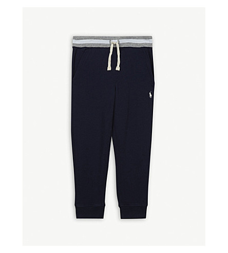 RALPH LAUREN Contrast cotton joggging bottoms 2-4 years (Newport+navy