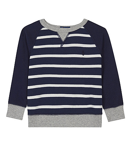 RALPH LAUREN Striped cotton sweatshirt 2-4 years (Navy+multi