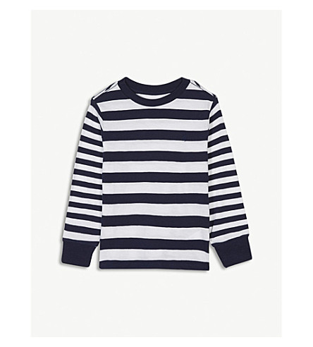 RALPH LAUREN Striped cotton long-sleeved top 2-4 years (White+multi