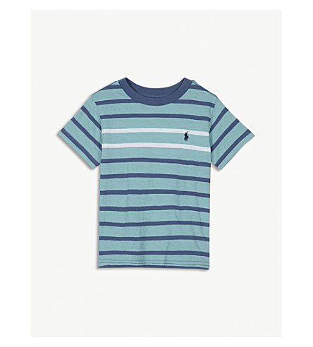 RALPH LAUREN Striped cotton crew t-shirt 2-4 years (Seafoam