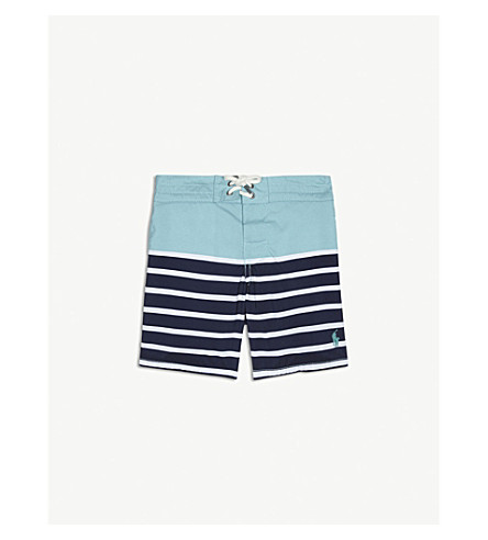 RALPH LAUREN Striped swimming shorts 2-4 years (Seafoam