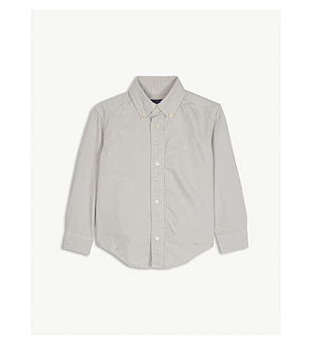 RALPH LAUREN Pony cotton Oxford shirt 2-4 years (Avenue+grey
