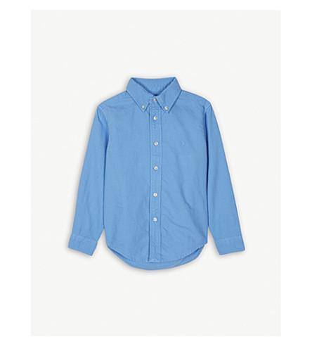 RALPH LAUREN Embroidered brand logo cotton Oxford shirt 2-4 years (Florida+blue