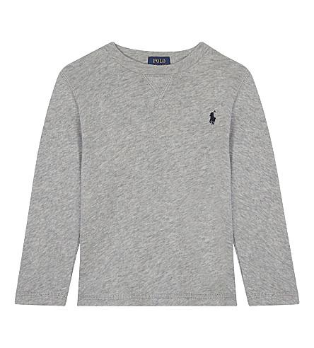 RALPH LAUREN Crew neck cotton sweatshirt 2-4 years (Light+grey