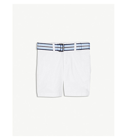 RALPH LAUREN Belted stretch-cotton chino shorts 2-4 years (White