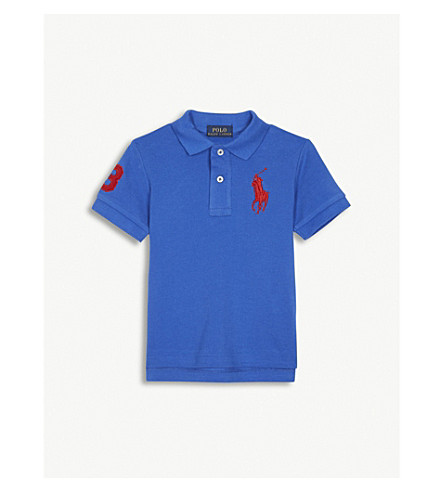 RALPH LAUREN Embroidered logo cotton polo shirt 2-4 years (New+iris