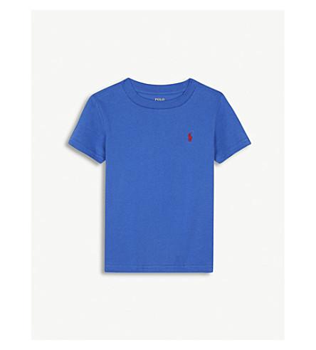 RALPH LAUREN Crew neck embroidered logo cotton T-shirt 2-4 years (Green