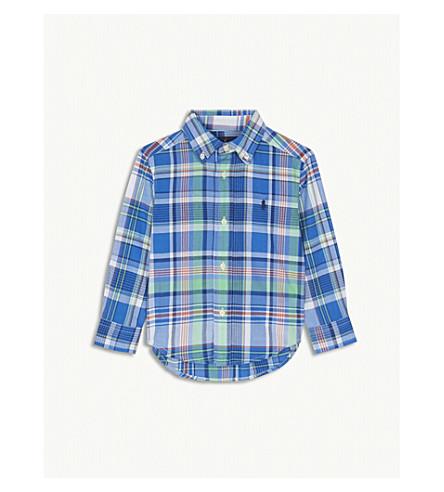 RALPH LAUREN Check print cotton shirt 2-4 years (Blue+multi