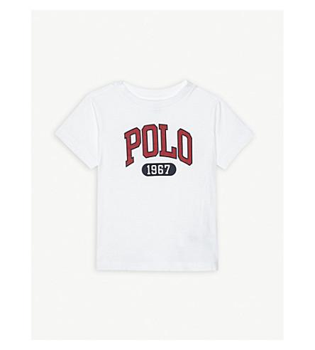RALPH LAUREN Logo cotton T-shirt 2-4 years (White