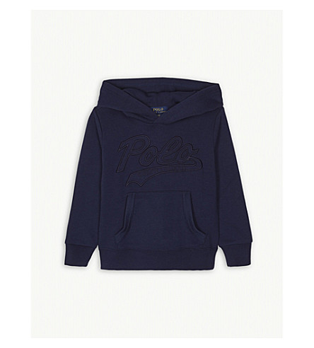 RALPH LAUREN Script cotton-blend hoody 2-4 years (Navy